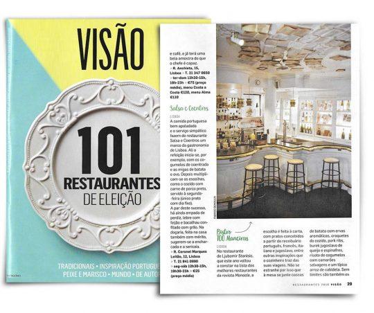 Guia 101 Restaurantes de Eleição, Visão