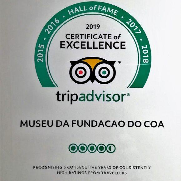 Certificados de Excelência Tripadvisor 2019