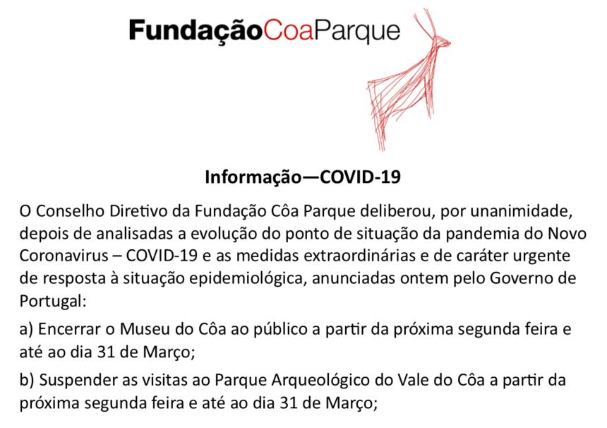 Museu do Côa e Parque Arqueológico do Vale do Côa encerrados temporariamente